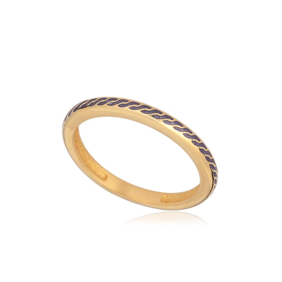 61 158 1z 1 - Кольцо из серебра «Принцесса на горошине» (золочение), фиолетовое