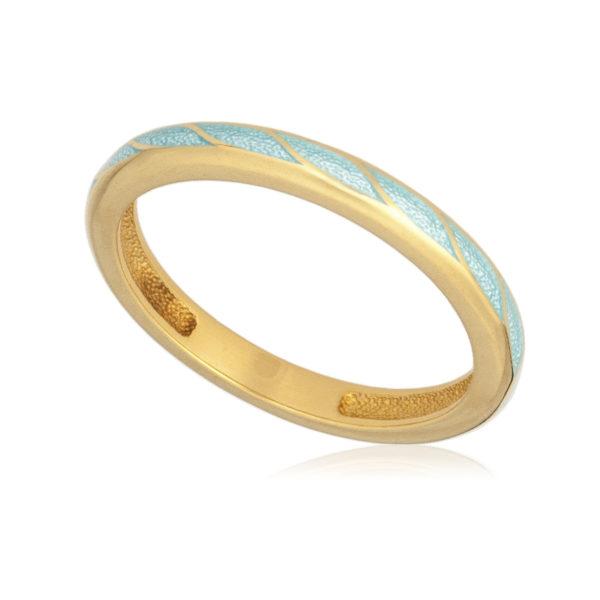 61 159 1z 600x600 - Кольцо «Принцесса на горошине» (золочение), голубое