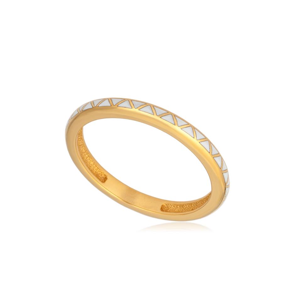 61 160 1z 1 - Кольцо из серебра «Принцесса на горошине» (золочение), белое