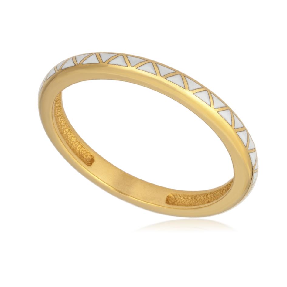 61 160 1z - Кольцо «Принцесса на горошине» (золочение), белое