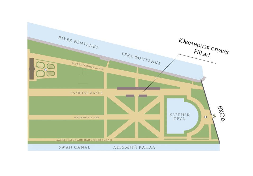 Схема Летний сад