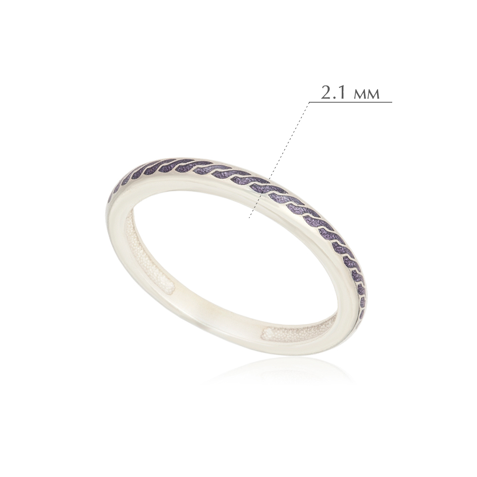 princzessa 61.158 - Кольцо из серебра «Принцесса на горошине», фиолетовое