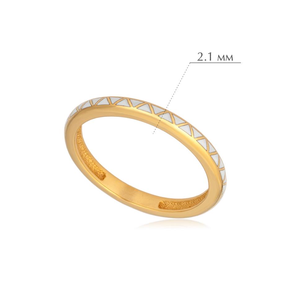 princzessa 61.160z - Кольцо из серебра «Принцесса на горошине» (золочение), белое