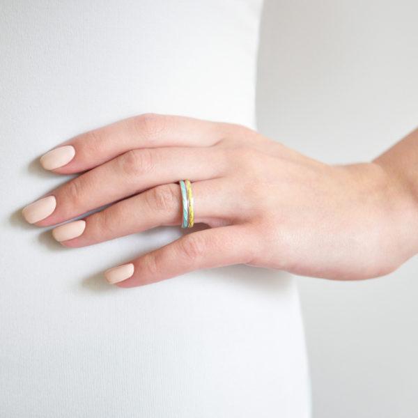 serebro 159 157 600x600 - Кольцо «Принцесса на горошине», желтое