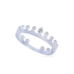 61 171s 300x300 - Кольцо из серебра «Принцесса на горошине», белое с фианитами