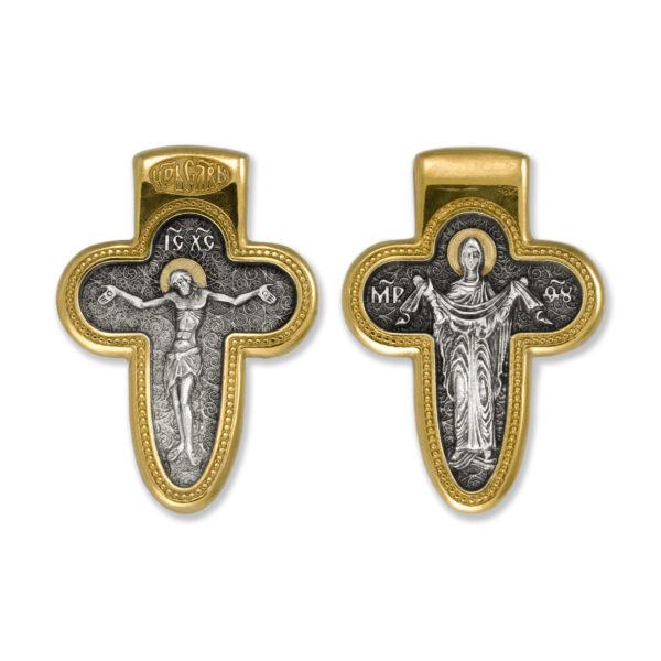 8.10 600x600 - Нательный крест «Распятие Господне. Божия Матерь Покров»