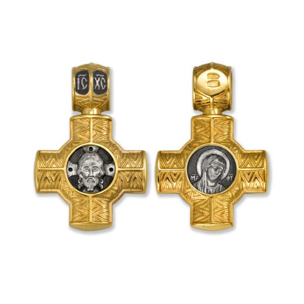 8.17 600x600 - Нательный крест из серебра «Cпас Нерукотворный. Божия Матерь»