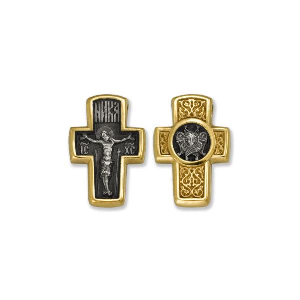 8.21 600x600 - Нательный крест из серебра «Распятие Господне. Серафим»