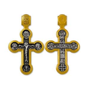 8.23 1200x1000 1 300x300 - Нательный крест из серебра «Распятие Господне. Предстоящие. Господь Саваоф. Ангел Хранитель»