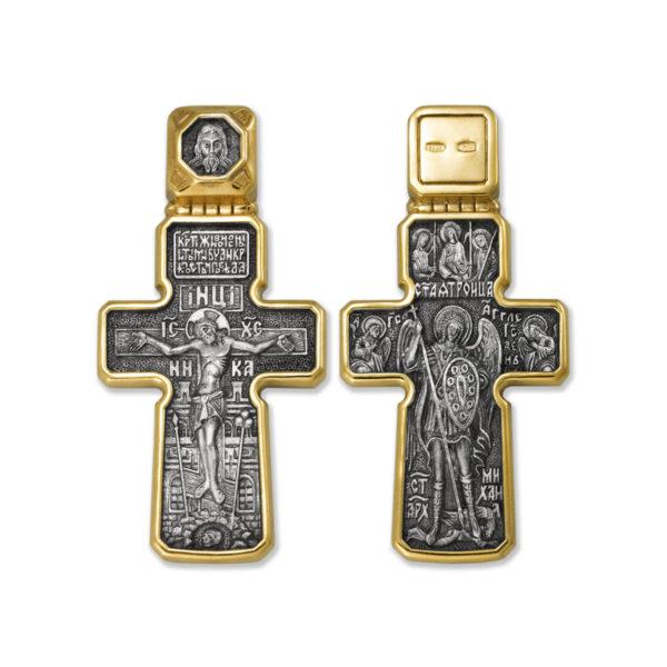 8.25 1200x1200 1 600x600 - Нательный крест из серебра «Распятие Господне. Архангел Михаил. Святая Троица»