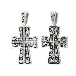 8.69 2 300x300 - Нательный крест из серебра «Молитва мытаря», черный