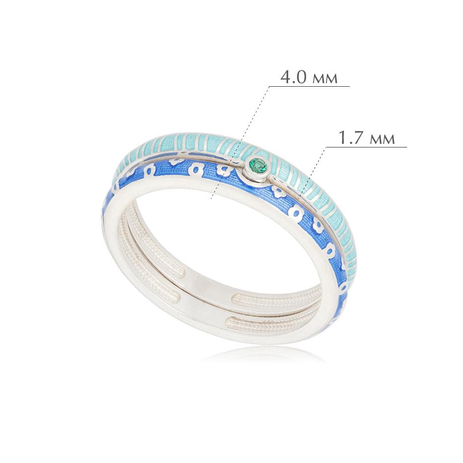 princzessa 61.161 - Кольцо из серебра «Принцесса на горошине», сине-голубое с фианитами