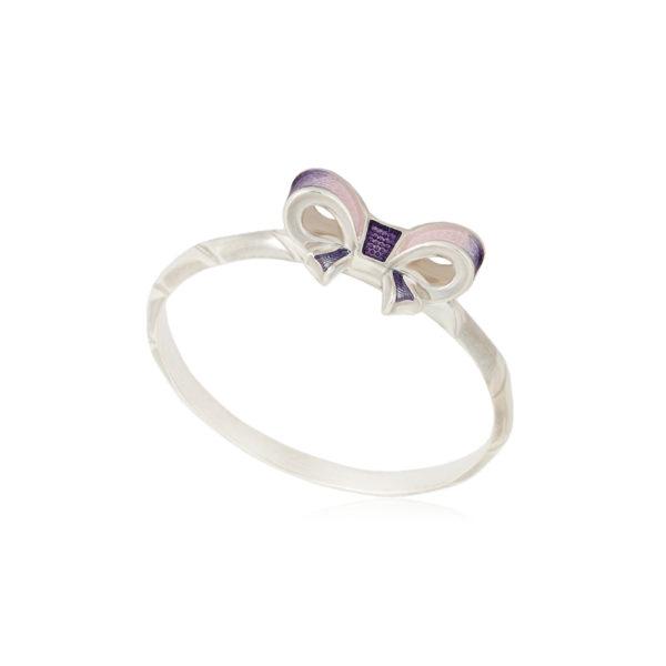 61 203 1s 1 600x600 - Кольцо из серебра «Бантик», розовое