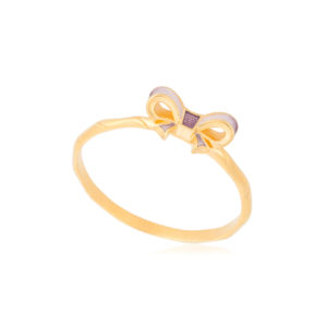 61 203 1z 1 300x300 - Кольцо из серебра «Бантик» (золочение), розовое