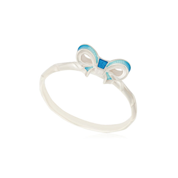 61 203 2s 1 600x600 - Кольцо из серебра «Бантик», голубое