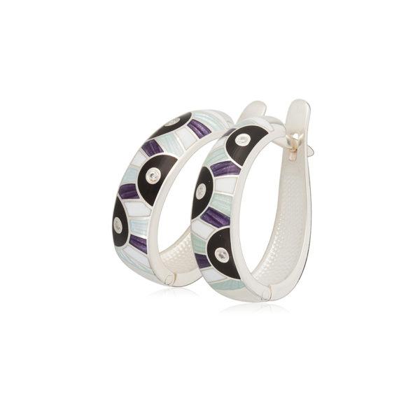 31 162 5s 1 600x600 - Серьги-полукольца «Эрте», фиолетовые