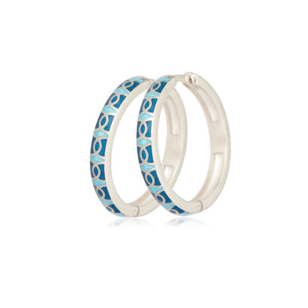 3 33 2s 1 600x600 - Серьги серебряные «Седмица», голубые