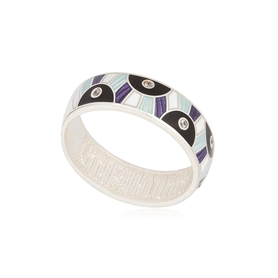 61 162 5s 1 - Кольцо серебряное «Эрте», фиолетовое с фианитами