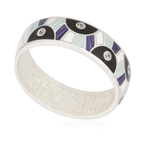 61 162 5s 600x600 - Серьги-полукольца «Эрте», фиолетовые