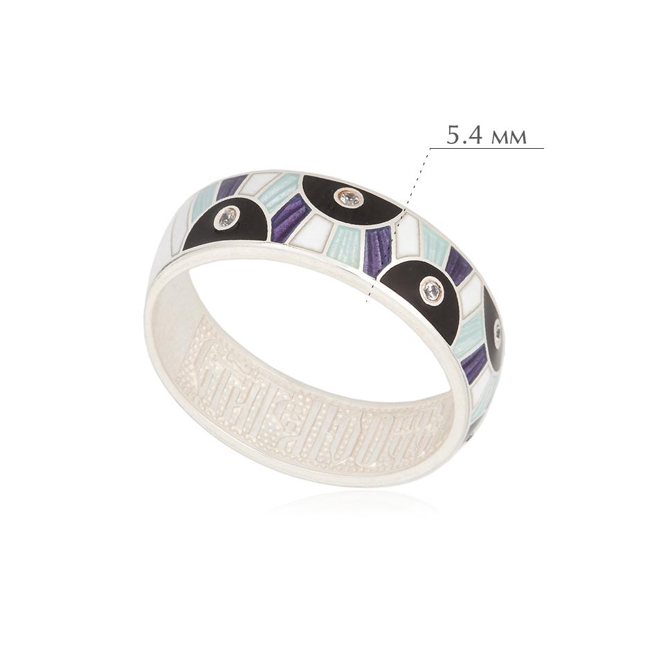 erte fioletovaya - Кольцо из серебра «Эрте», фиолетовое с фианитами