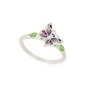 61 202 3s 1 300x300 - Кольцо из серебра «Бабочка», фиолетовое