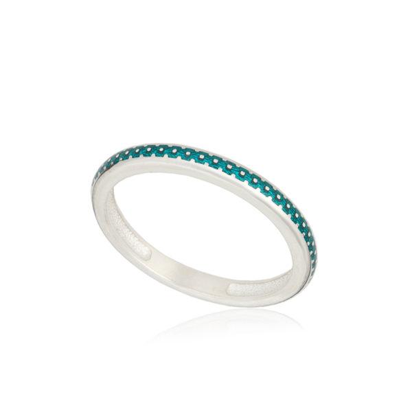 61 154 1s 1 600x600 - Кольцо из серебра «Принцесса на горошине», морская волна