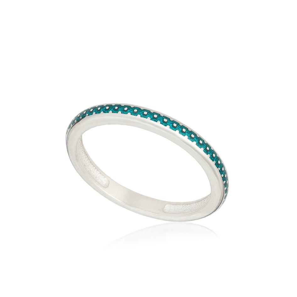 61 154 1s 1 - Кольцо из серебра «Принцесса на горошине», морская волна