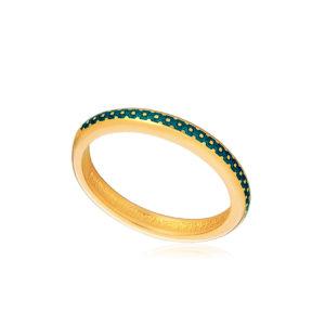 61 154 1z 1 1 300x300 - Кольцо из серебра «Принцесса на горошине» (золочение), морская волна
