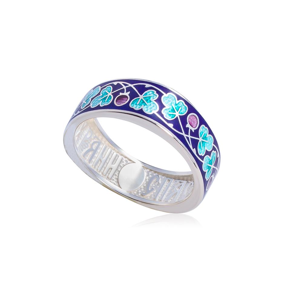 61 123 1s 2 1 - Кольцо серебряное «Спас-на-крови», морская волна