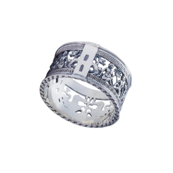 6 76s 600x600 - Кольцо из серебра «Петербург. Аничков мост»