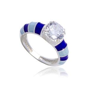 k1 1 1 300x300 - Кольцо из серебра «Риальто» с фианитами