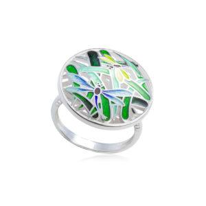 k9 1 300x300 - Кольцо из серебра «Риальто» с фианитами