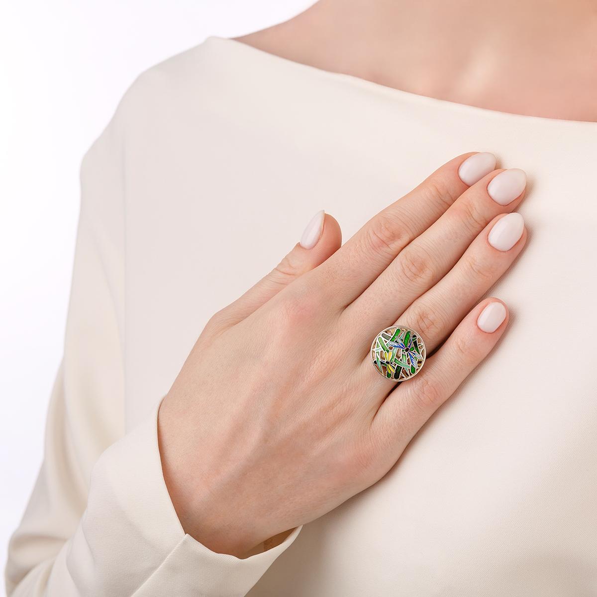 kolczo strekozy 61.214 - Перстень из серебра «Стрекозы»