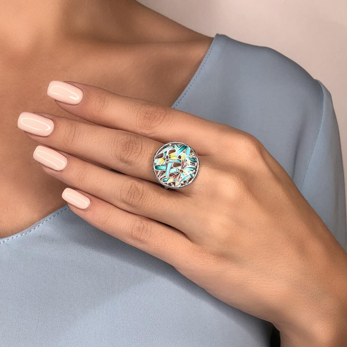 persten «strekozy» - Перстень из серебра «Стрекозы»