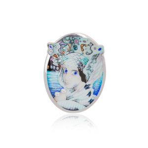 2 1 1536x1536 1 300x300 - Подвеска-брошь из серебра «Царевна Лебедь» с фианитами