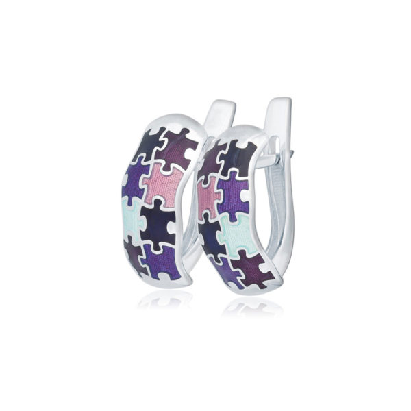 31 116 4s 1536x1536 1 600x600 - Серьги с английским замком «Пазлы», фиолетовые