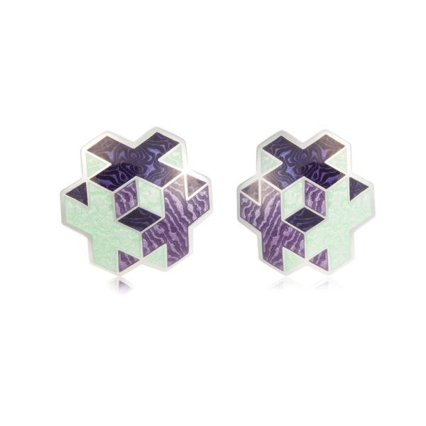 31 199 3s 1 600x600 - Пуссеты серебряные «Тетра», фиолетовые