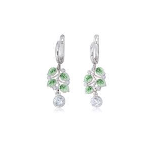 3 39 1s 2 2 300x300 - Серьги-подвески из серебра «Мелисса», зеленые