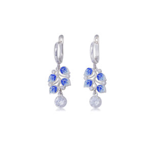 3 39 2s 2 300x300 - Серьги-подвески серебряные «Мелисса», синие