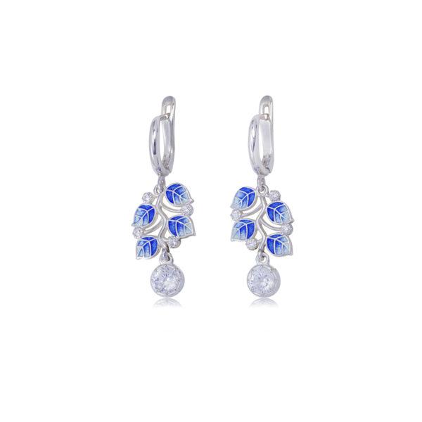 3 39 2s 2 600x600 - Серьги-подвески серебряные «Мелисса», синие