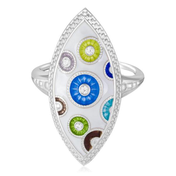 61 143s variant2 600x600 - Перстень серебряный «Пуговки» с фианитами