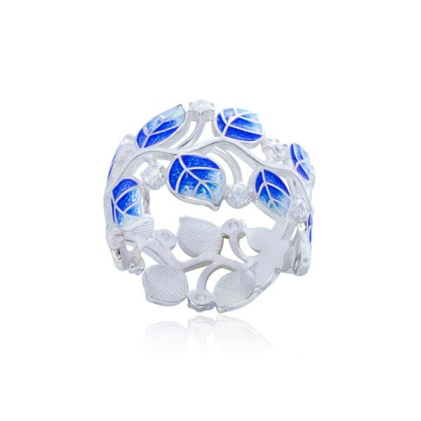 6 39 2s 2 1 600x600 - Кольцо серебряное «Мелисса», синее с фианитами