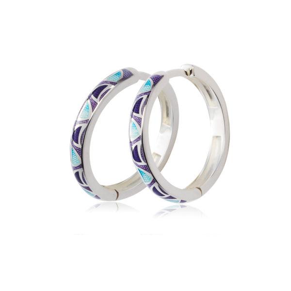 3 35 fioletovaya 600x600 - Серьги серебряные «Седмица», фиолетовые