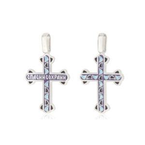 8 35 3s 300x300 - Нательный крест из серебра «Седмица», фиолетовый