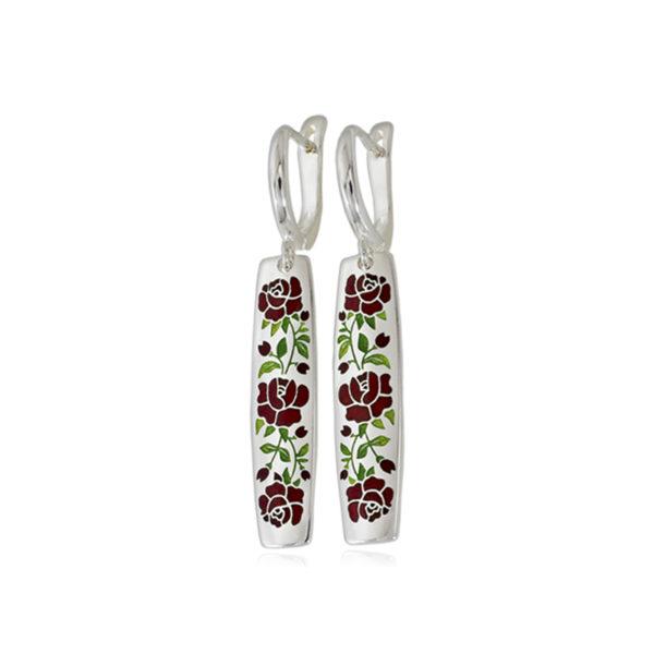 3 25sp 3s 600x600 - Серьги-подвески серебряные «Розы», красные