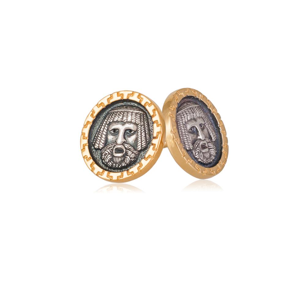 3 86 - Пуссеты серебряные «Вавилонец»