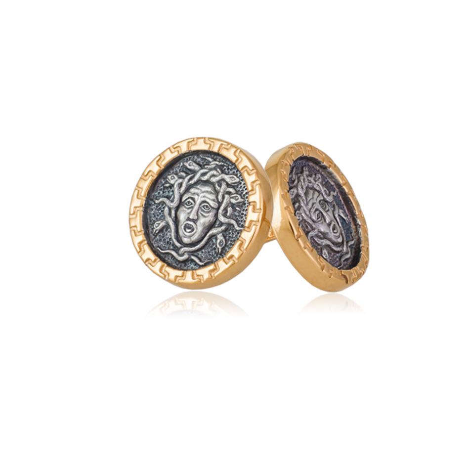 3 89 1 - Пуссеты серебряные «Горгона»