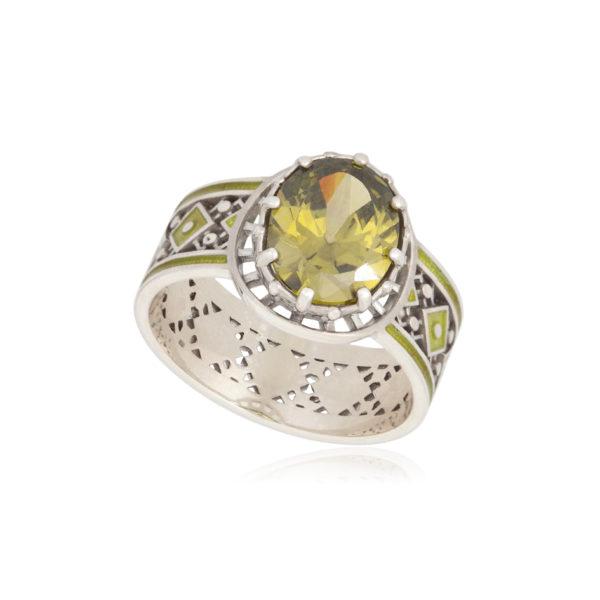 61 189 1s 600x600 - Кольцо из серебра «Калейдоскоп», фиолетовое