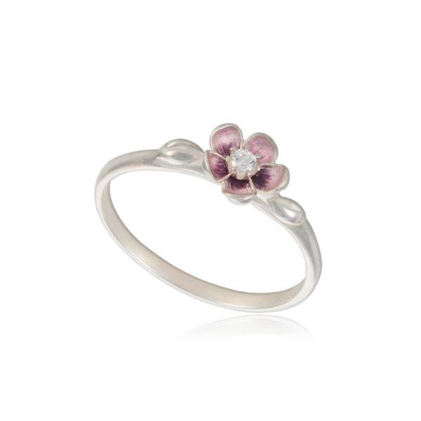 61 203s 600x600 - Кольцо серебряное «Сакура», розовое
