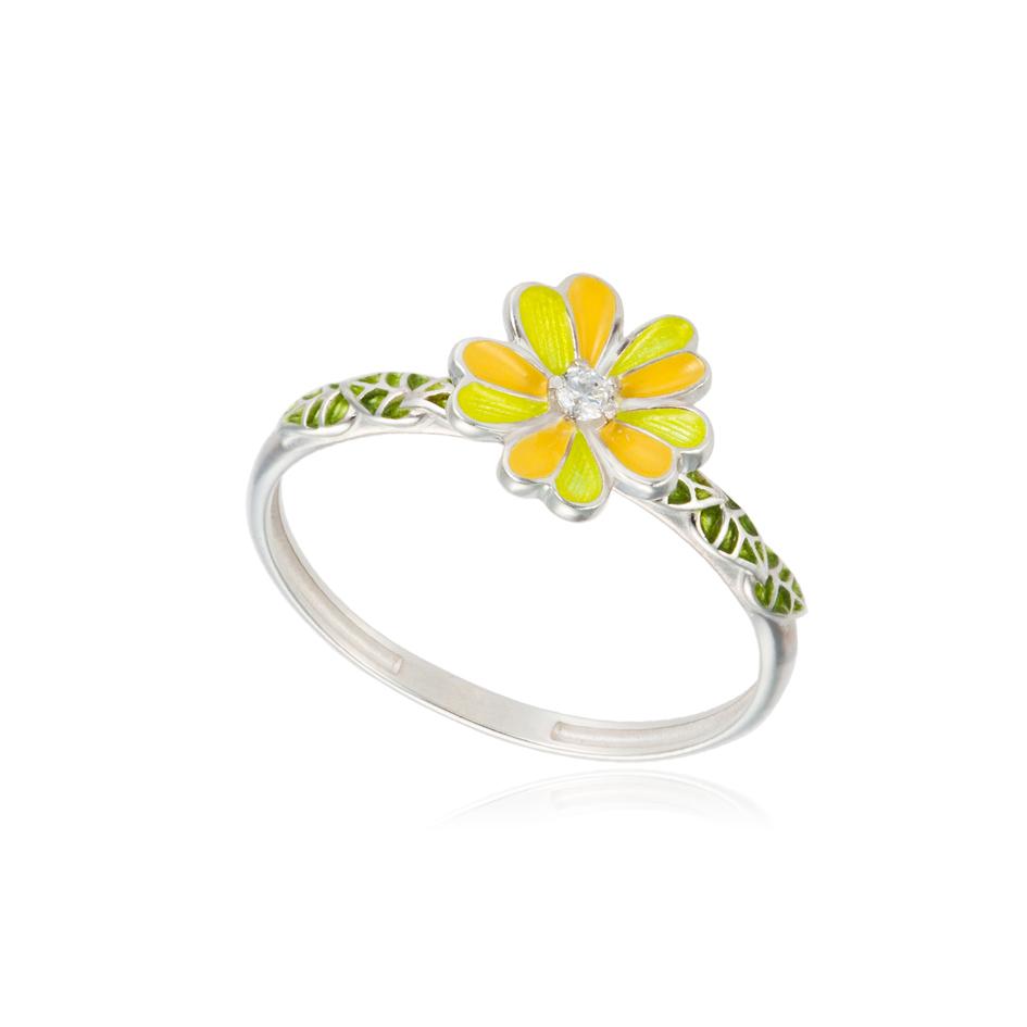 61 205 1s - Кольцо из серебра «Мальва», желтое